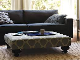 Square Ottoman Coffee Table Coffee Table Ottoman Tufted Fabric Regarding Elegant Fashionable