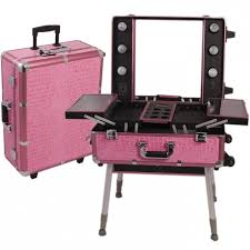 Rolling Makeup Case With Lights Fascinating Pro Lighted Mirror Makeup Stand Lighted Makeup Station