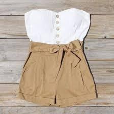shorts dress shirt white brown bow high waisted shorts