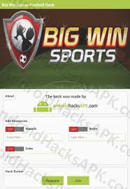 big win football hack apk big win soccer football hack apk rupiahs bucks and coins