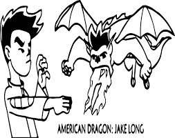 american dragon jake long fire coloring wecoloringpage