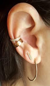 gold ear cuffs row diamond gold ear cuff diamond earrings the
