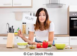 femme en cuisine in apron holding bottle stock images search