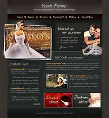 flash template event planner 169 professional flash web design at