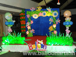 Simple Birthday Decorations At Home by Balloon Decorations For Baby Birthday Decoration Idea Luxury