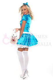 ladies alice in wonderland fancy dress halloween full