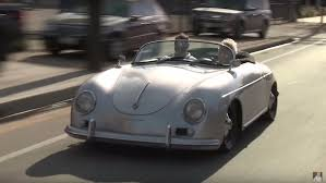 porsche speedster kit car jay leno tries a porsche speedster replica with an unusual engine