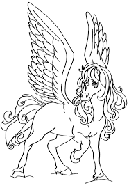 flying horse coloring pages funycoloring