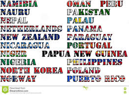 World National Flags With Names Country Flags P
