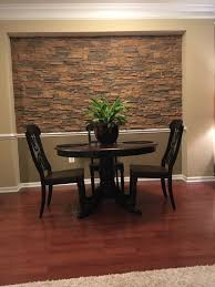 Dining Room Accent Wall Dining Room Accent Wall Stone Style Creative Faux Panels