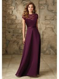 sleeved bridesmaid dresses line chiffon and lace cap sleeves purple bridesmaid dresses