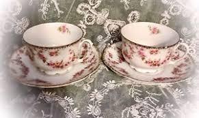 mz austria bridal antique mz austria bridal tea cups saucers set of 2 ebay