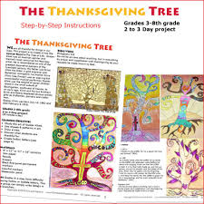 lesson thanksgiving tree drawing and painting christian