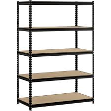 furniture exciting material of edsal shelving for garage storage