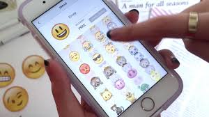 make your phone case with the new emoji stickers for iphone 6