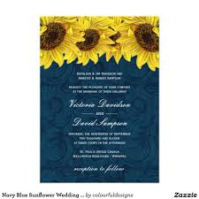 Yellow Wedding Invitation Cards Navy Blue Sunflower Wedding Invitation Artworks Wedding And Yellow
