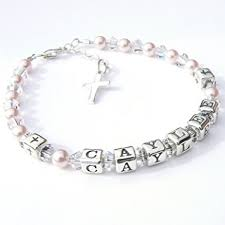 Name Braclets Childrens Name Bracelet First Holy Communion Gift Boxed