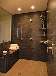 Shower Ideas Bathroom Double Shower Granite Bench Kohler Pinstripe Fixtures Bathroom