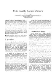 how to write publish a scientific paper pdf on the scientific relevance of esports pdf download available