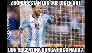 Memes Sobre Messi - argentina vs colombia lionel messi y la victoria de la albilceste