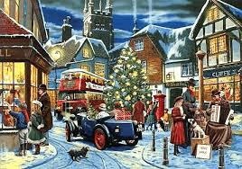 classic car christmas cards