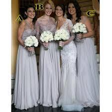 bridesmaid dresses silver bridesmaid silver dresses vosoi
