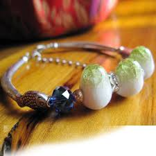 ceramic bracelet fashion images The most popular ethnic style annular shaped blue and white town jpg