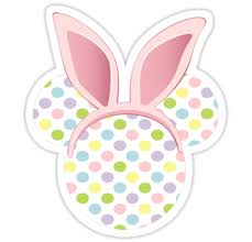 Minnie Mouse Easter Stickers Easter Mickey Mouse Bunny Stickers By Sweetsisters Redbubble