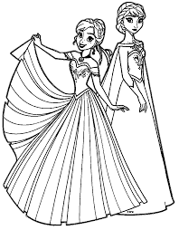 frozen coloring pages elsa coronation anna elsa coloring pages go digital with us 0ad1a720363a at sharry me