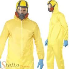 breaking bad costume mens breaking bad costume yellow hazmat walter white fancy