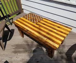 How To Make Patio Furniture Out Of Pallets by American Flag Pallet Coffee Table 10 Steps With Pictures