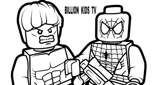 lego spiderman vs lego hulk coloring book coloring pages kids fun