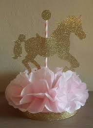 carousel horse birthday party or baby shower centerpiece table