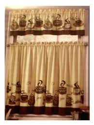 themed kitchen coffee themed kitchen curtains tiers valance set complete curtains