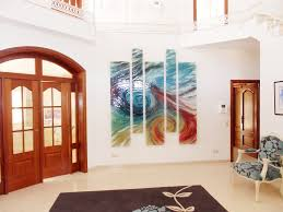 Painted Wall Paneling by Interior Decoration Lovable Slice Of Abstract Canvas Painting As