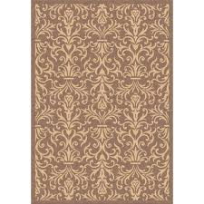 Dynamic Rugs Dynamic Rugs Piazza Brown 6 Ft 7 In X 9 Ft 6 In Indoor Outdoor