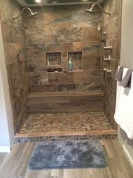 Porcelain Tile For Bathroom Shower Bathroom Shower Porcelain Chalet 12x24 2x2 Mosaic Tabula 6x36
