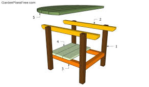 Build A Wooden Garden Table by Patio Table Plans Free Garden Plans How To Build Garden Projects