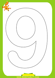 kids under 7 number coloring pages 1 10