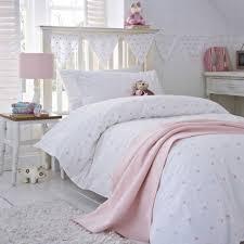 Cot Duvet Set Stars Pink Cot Bed Duvet Cover