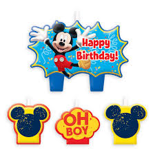 mickey mouse birthday mickey mouse birthday candle set shopdisney