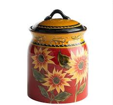 sunflower kitchen canisters decorative canisters can perk up your kitchen