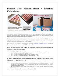 Fashion Home Interiors Pantone Color Guide Pdf Docdroid