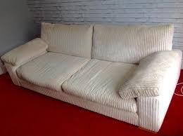 cream corduroy 4 seater sofa u0026 footrest in lancing expired
