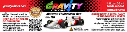 gravity colors plastic scale model automotive airbrush paints