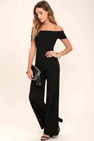 all into one jumpsuit black jumpsuit the shoulder jumpsuit wide leg