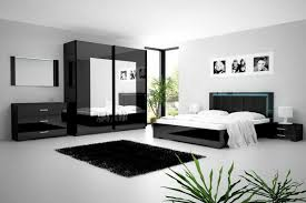 chambre à coucher blanc et noir chambre noir et blanc galerie avec galerie et deco chambre noir et
