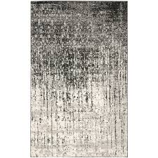 Light Gray Area Rug Shop Safavieh Retro Elan Black Light Gray Rectangular Indoor
