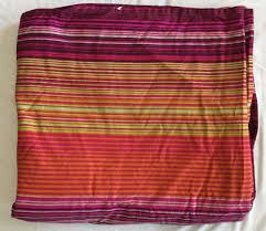Ikea Duvet Covera Ikea Andrea Satin Pink Purple Orange Green Striped King Duvet