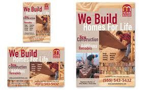 Home Builder  Contractor Flyer  Ad Template Design - Home builder design